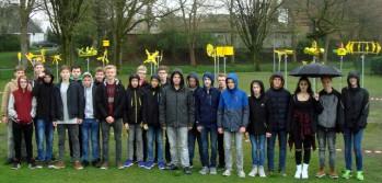Der NW-Kurs vor den ausgestellten Windrädern