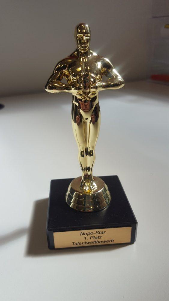 Der Oscar in der Kategorie 'Nepo-Star Talentwettbewerb' geht an... Foto: mwa