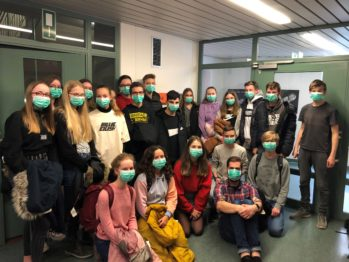 Klasse 9D im Krankenhaus Coesfeld