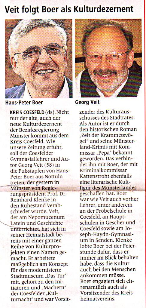 Georg veit wechselt zur bezirksregierung gymnasium - Boer coesfeld ...